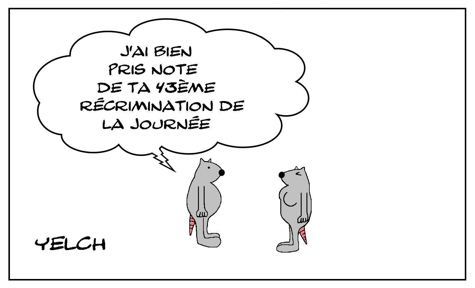 Récriminations et couple