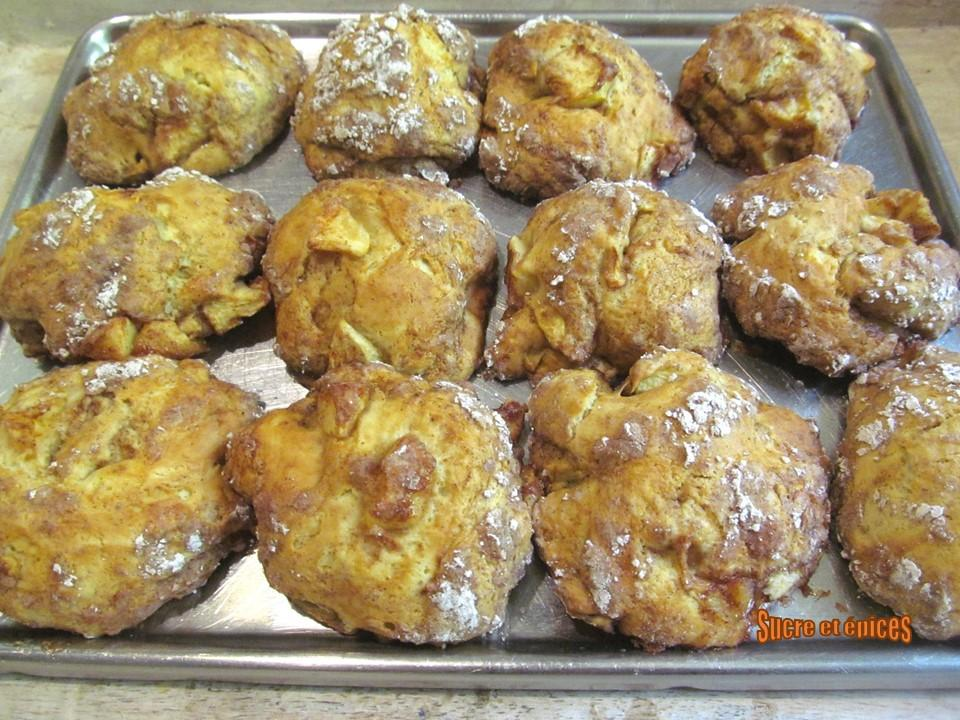 Biscuits rustiques pommes-cannelle