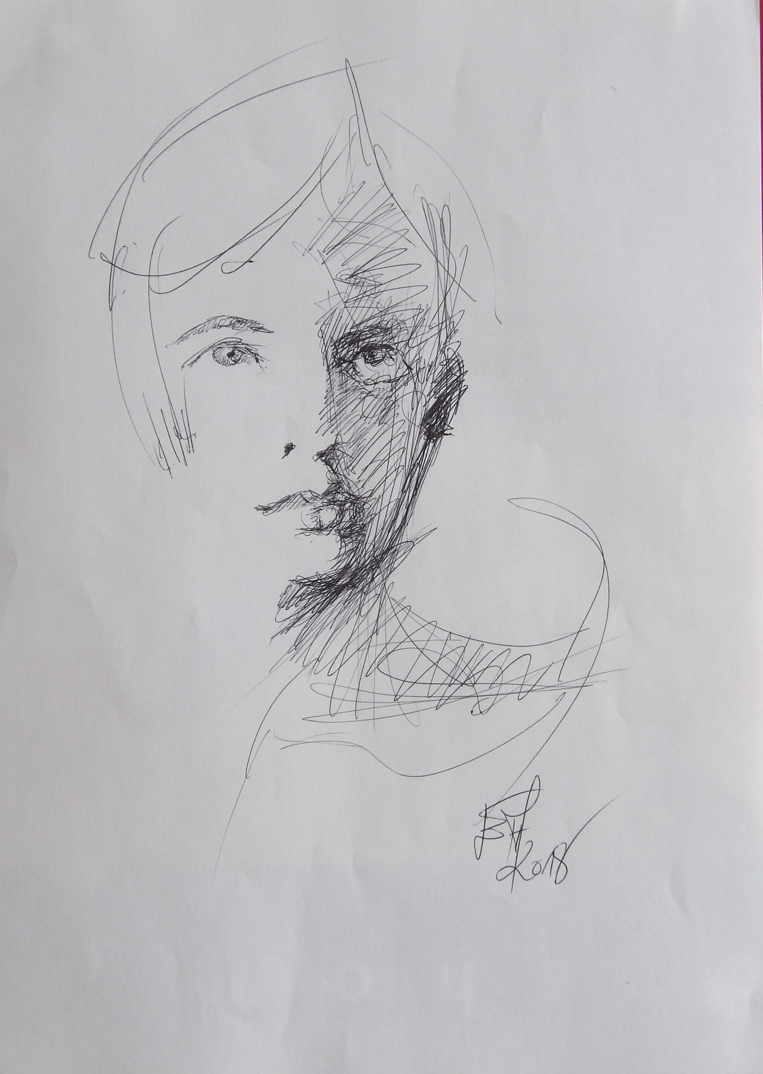 Dessins d'après les screen test d'Andy Warhol  shot between 1963 and 1966 -16 -richard rheem 1964 - 2018